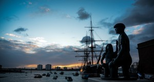 HMS_Warrior_sunset 2